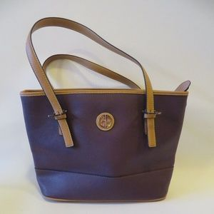 "NWT GIANI BERNINI ""SAFFIANO"" PURPLE FAUX BAG*"